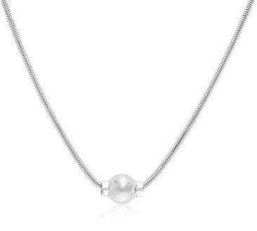 Single Silver Ball Necklace