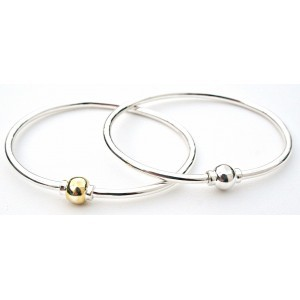 Single Gold Ball Bracelet