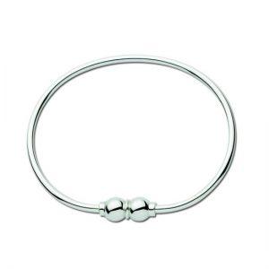 Double Silver Ball Bracelet