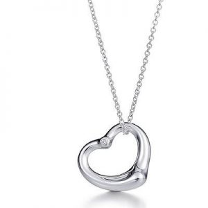 Open Heart Pendant with CZ