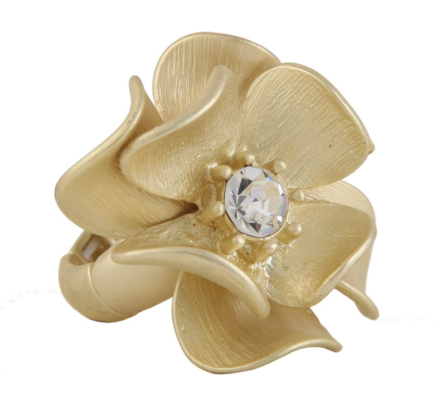 Gold Dogwood Ring
