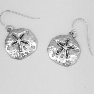Natural Shaped Sand Dollar Dangle Earrings