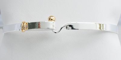 Two Tone Hook Bracelet