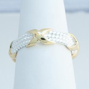 Twon Tone X Ring