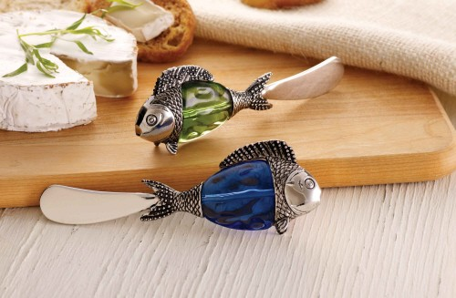 Glass Fish Spreader in Blue or Green