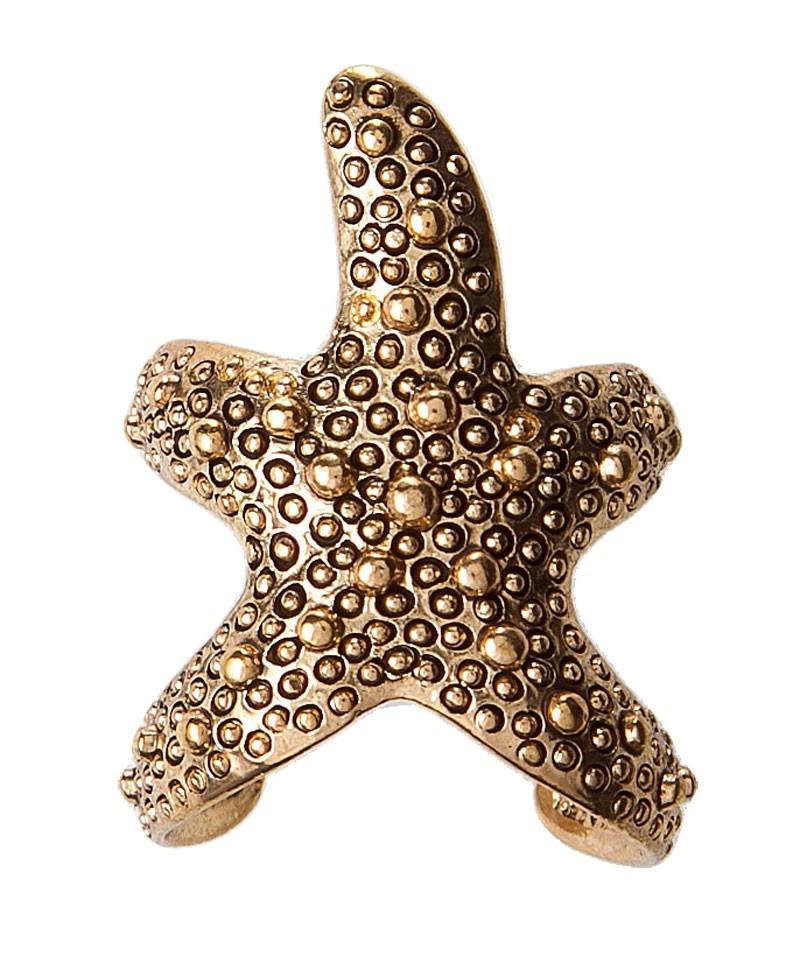 Gold Tone Starfish Cuff Ring
