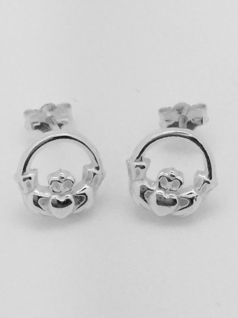 Mini Claddagh Stud Earrings