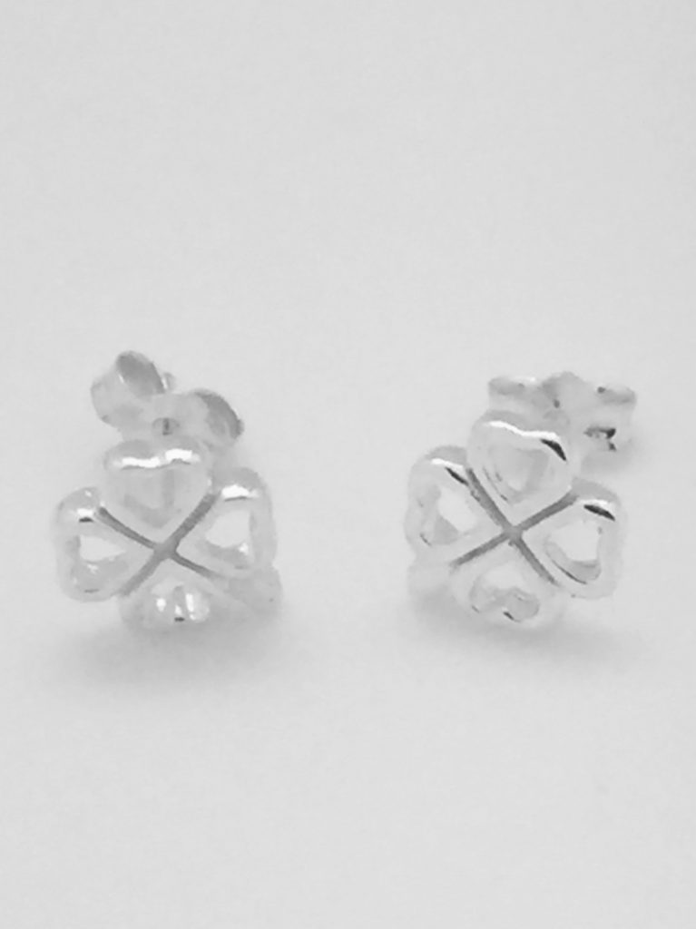 Open Clover Stud Earrings