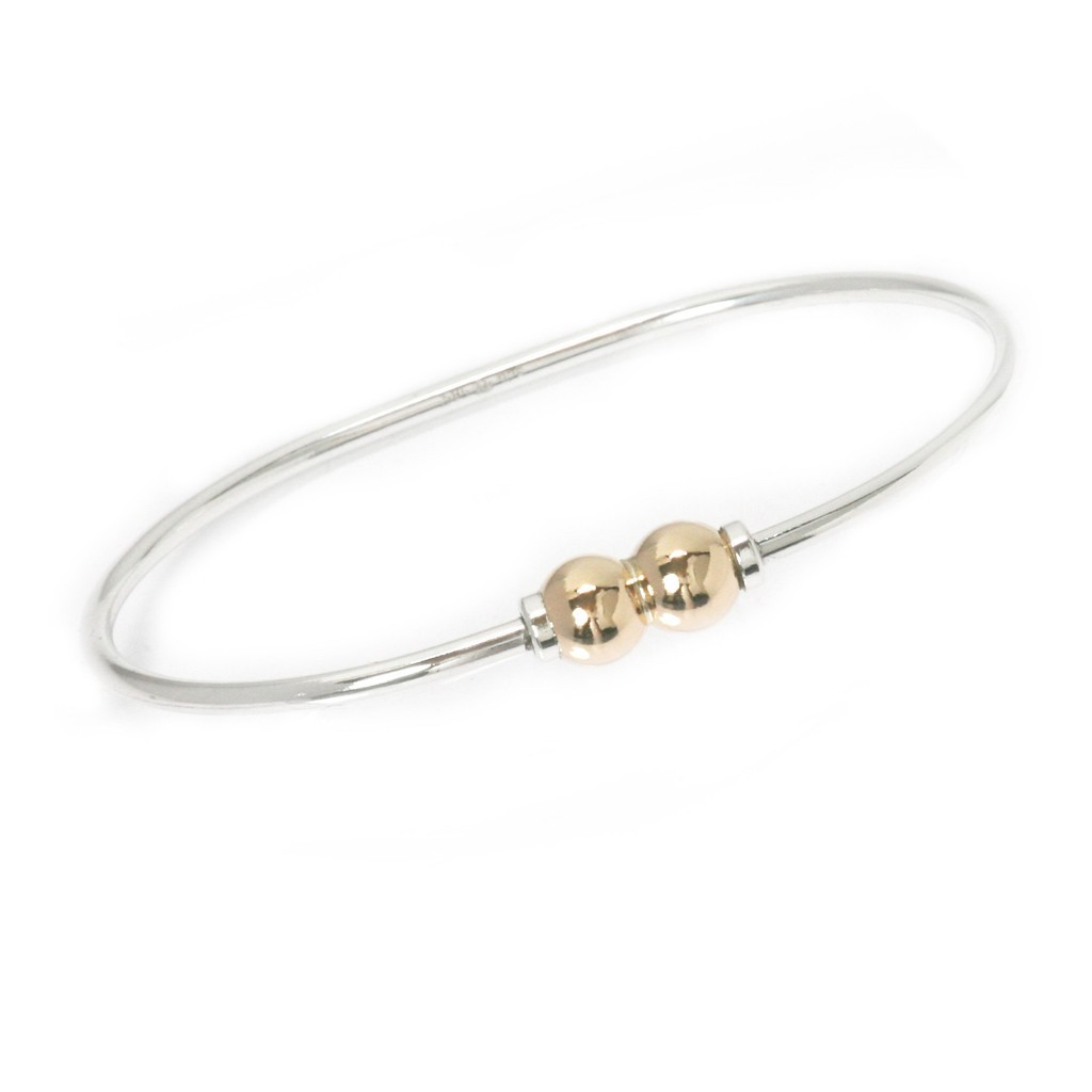 Double Gold Ball Bracelet
