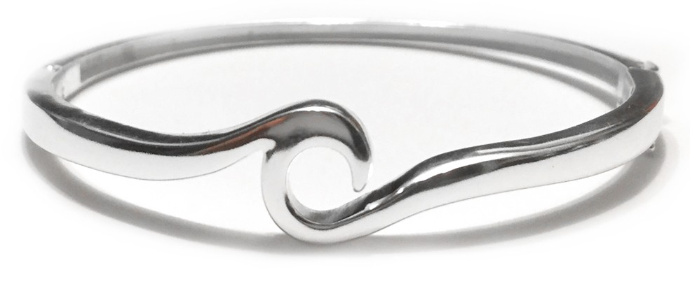 Wave Bracelet with Hinged Clasp