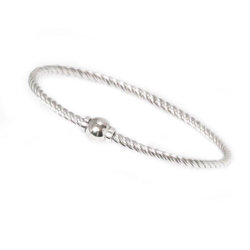 Silver Single Ball Braided Bracelet