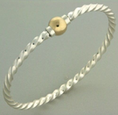 Single Gold Ball Braided Cape Cod Style Bracelet