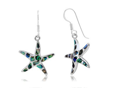 Abalone Mosaic Starfish Earrings
